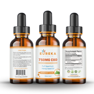 Eureka 750mg CBD Tincture – Peppermint Flavor    Grand Opening Special Offer